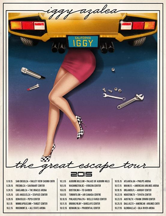 Iggy Azalea - The Great Escape Tour Fall 2015 - poster