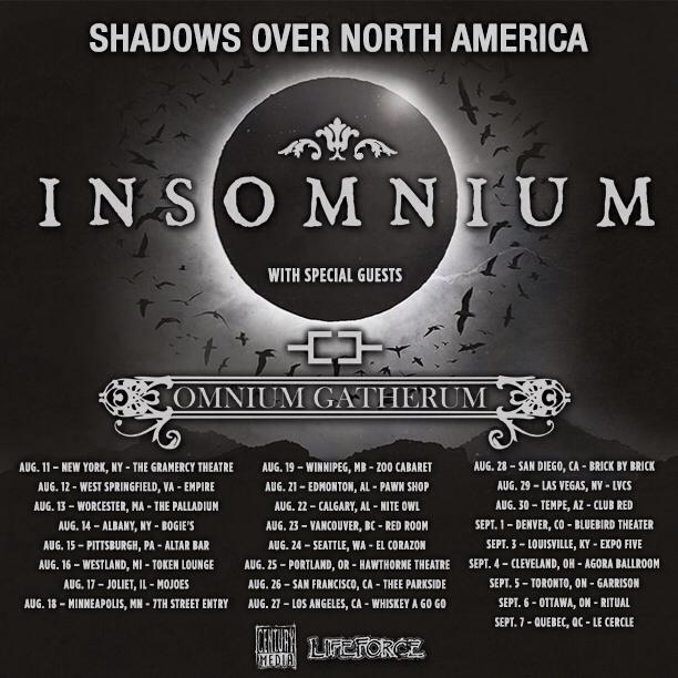 Insomnium - Shadows Over North America Tour - poster