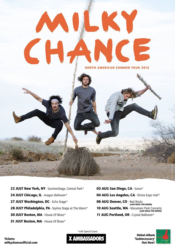 Milky Chance - North American Summer Tour 2015 - poster