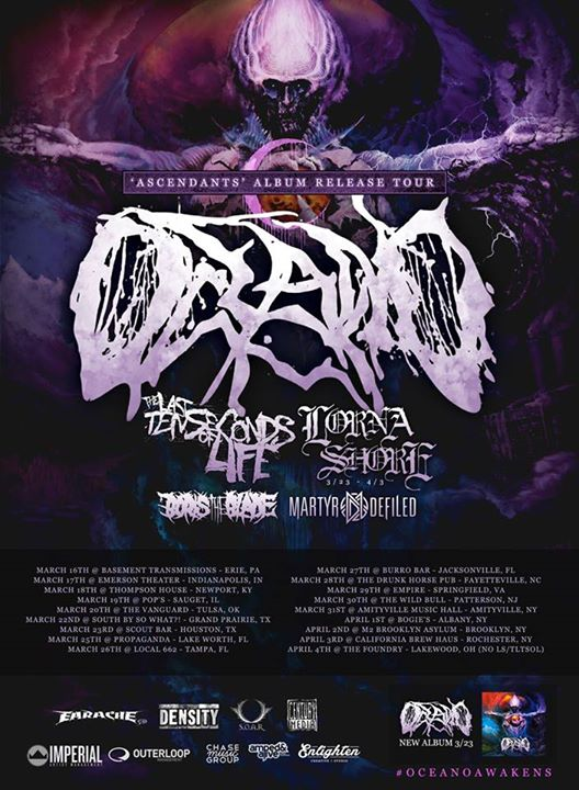 Oceano - ASCENDANTS Album Release Tour - Poster - 2015
