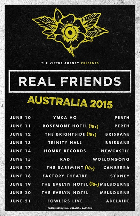 Real Friends - Australia Tour - Poster - 2015