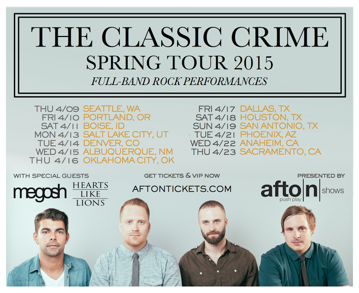 The Classic Crime - Spring U.S. Tour 2015 - poster
