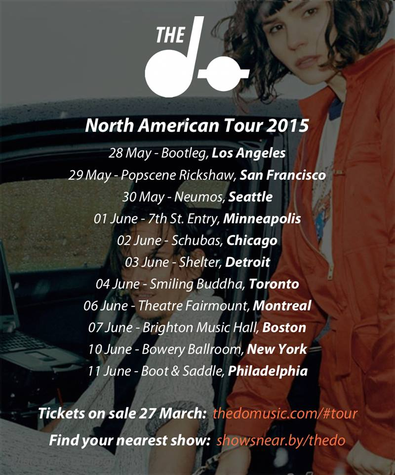 The Dø - North American Tour - Poster - 2015