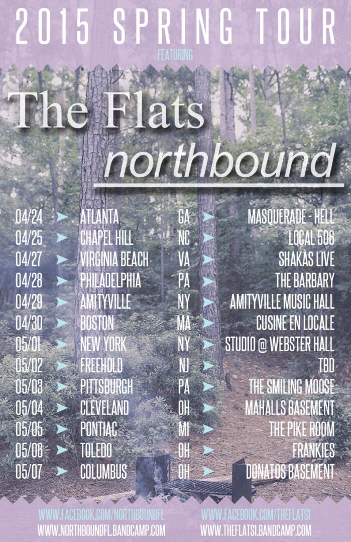 The Flats - 2015 spring tour with Northbound - poster