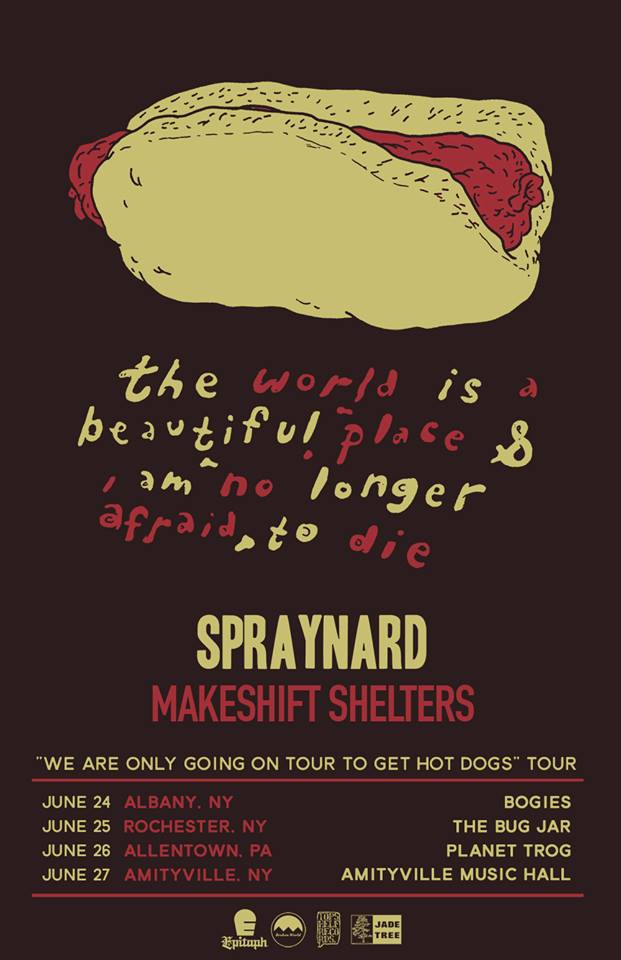 The World Is A Beautiful Place and I Am No Longer Afraid To Die - East Coast Tour - Poster - 2015