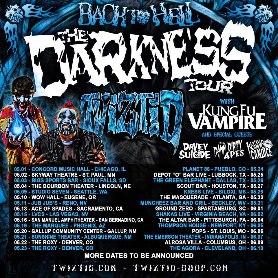 Twiztid - Back To Hell The Darkness - poster
