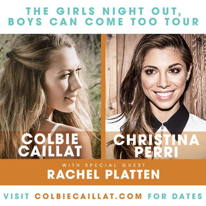 Colbie Caillat - The Girls Night Out, Boys Can Come Too Tour - poster