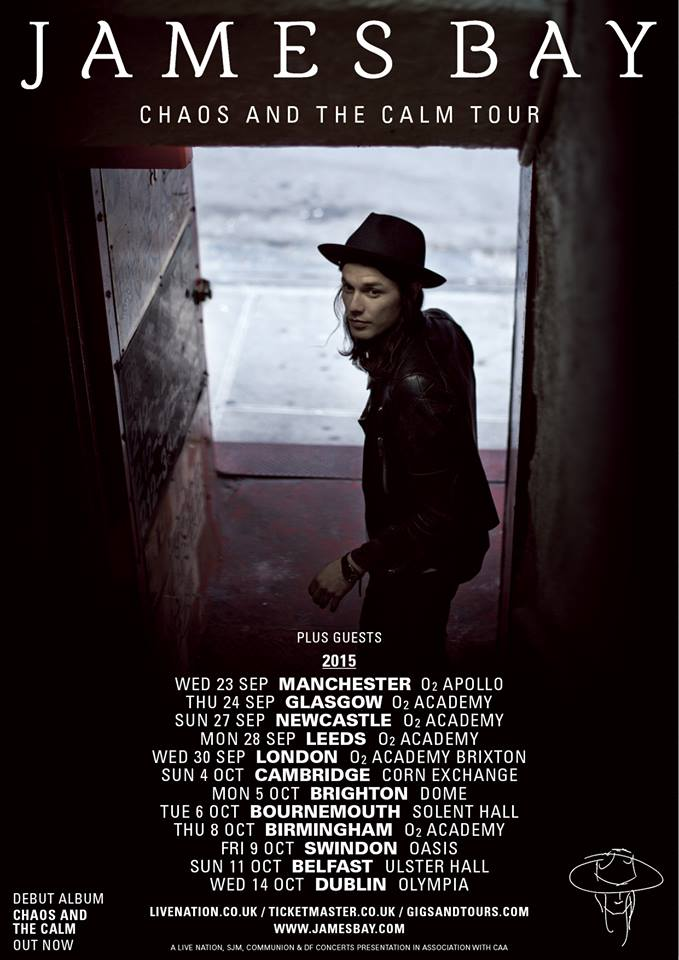 James Bay - Chaos And The Calm Tour - poster