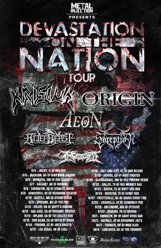 Krisiun - Devastation On The Nation With Origin - poster