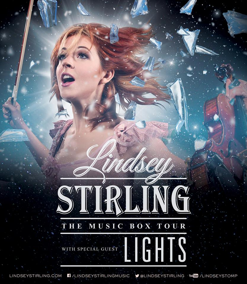 Lindsey Stirling - The Music Box Tour - Lights - poster
