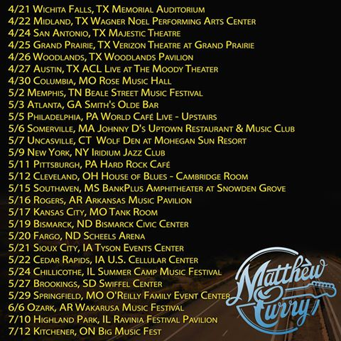 Matthew Curry - North American Tour - Poster - 2015