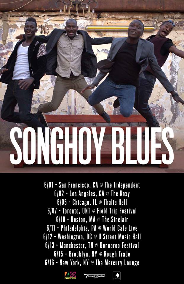 Songhoy Blues - North American 2015 Tour - poster