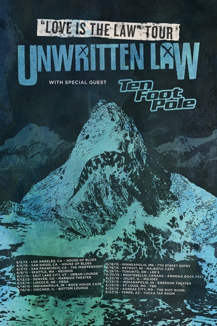 Unwritten Law - Love Is The Law Tour - poster