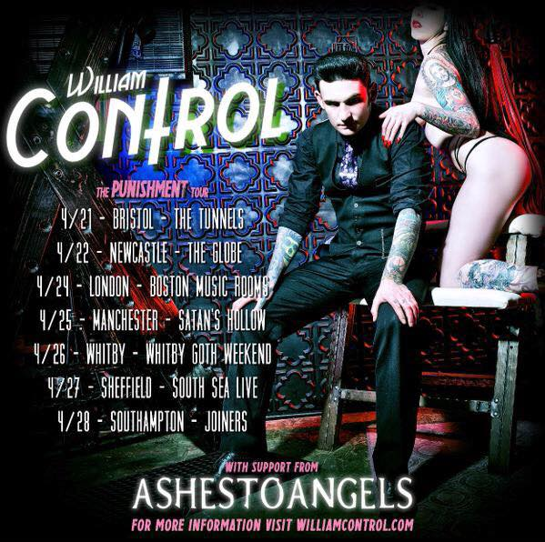 William Control - The Punishment UK Tour - poster