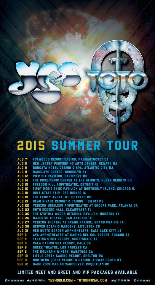 YES - Coheadlining Summer Tour With Toto - poster