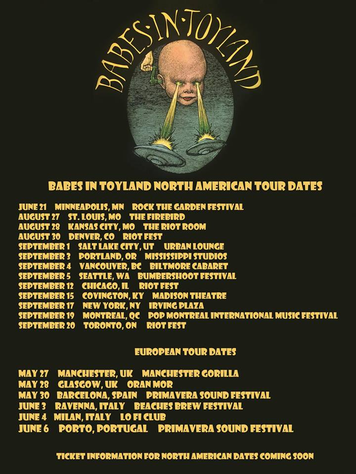 Babes In Toyland - North American and European Tour - Poster - 2015