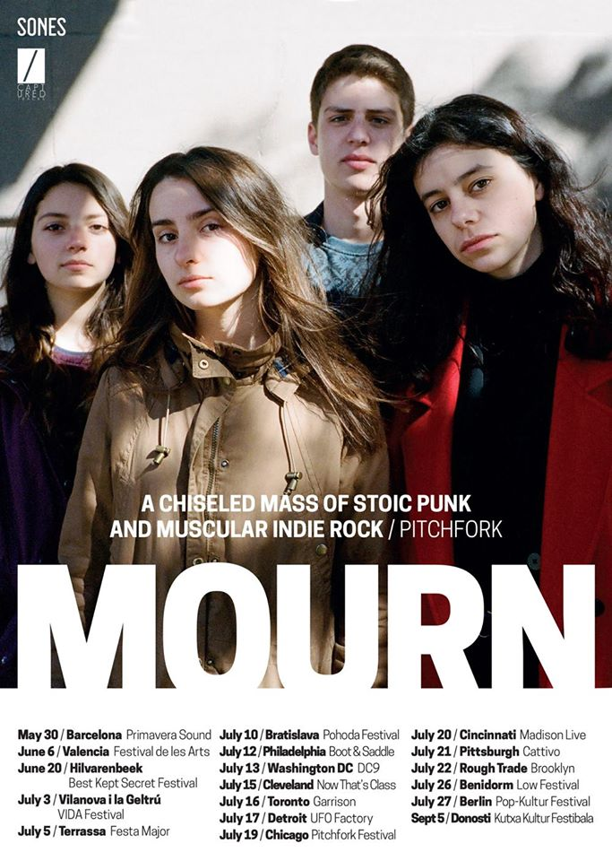 Mourn - North American Tour - Poster- 2015