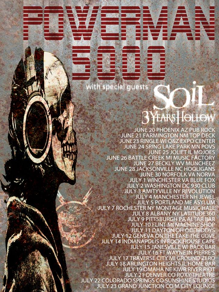 Powerman 5000 U.S. Summer Tour