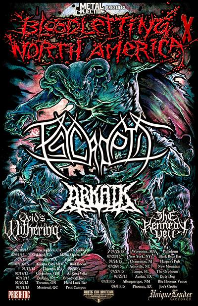 Psycroptic - Bloodletting North America Tour - poster