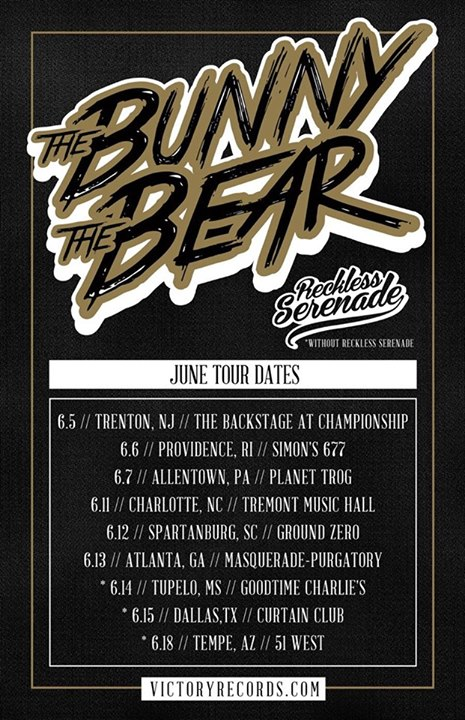 The Bunny The Bear - U.S. Summer Tour 2015 - poster