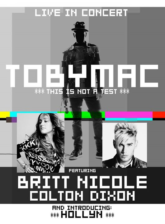 Toby Mac - This Is Not A Test Tour - poster