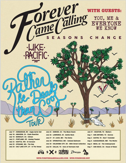 forever came calling - rather be dead than cool summer tour - poster - 2015