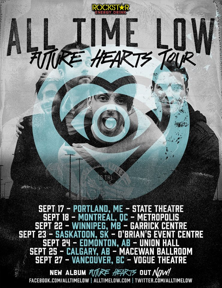 All Time Low - Future Hearts Tour Canada - poster