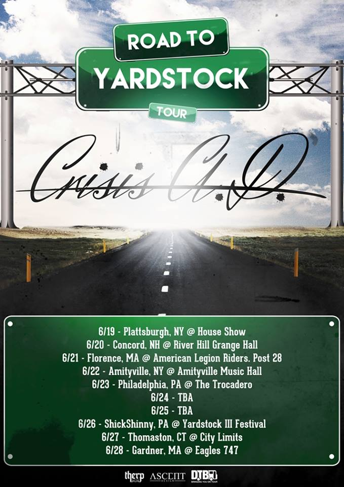 Crisis A.D. - Road To Yardstock Tour - poster
