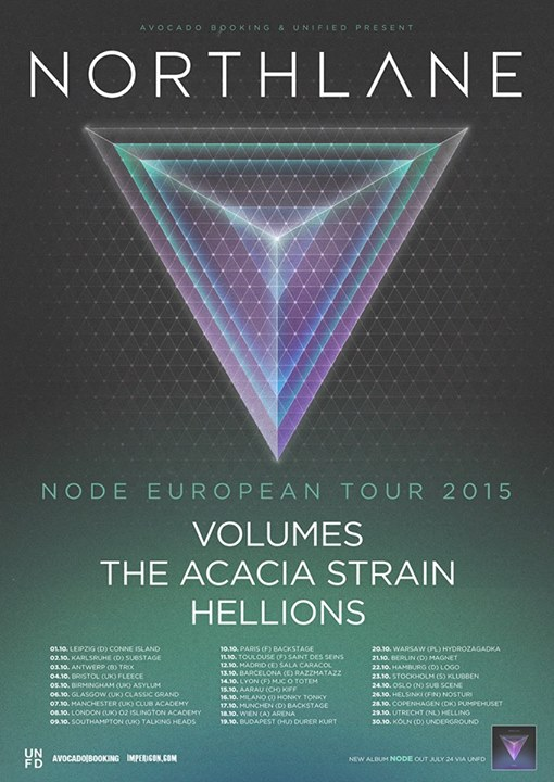 Northlane - 2015 Tour Poster