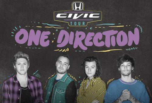 One Direction - Honda Civic Tour - poster