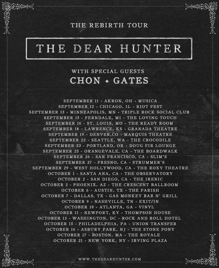The Dear Hunter - 2015 Tour Poster