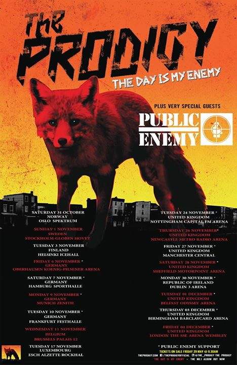 The-Prodigy-The-Day-Is-My-Enemy-Tour-poster