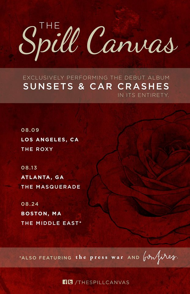 The-Spill-Canvas-Sunsets-Car-Crashes-Shows-poster