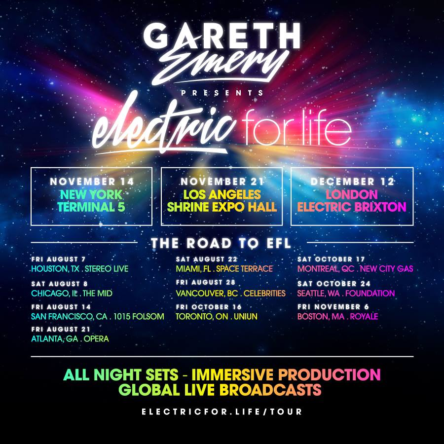 Gareth Emery - Road to Electric For Life - poster