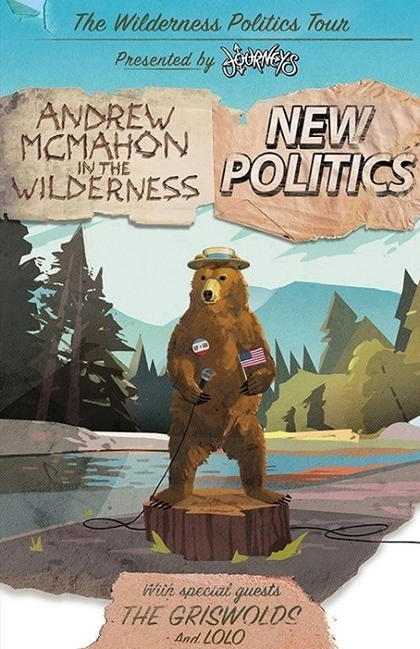 Andrew McMahon in the Wilderness - The Wilderness Politics Tour With New Politics - poster