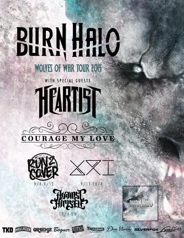 Burn Halo - Wolves Of War Tour 2015 - poster