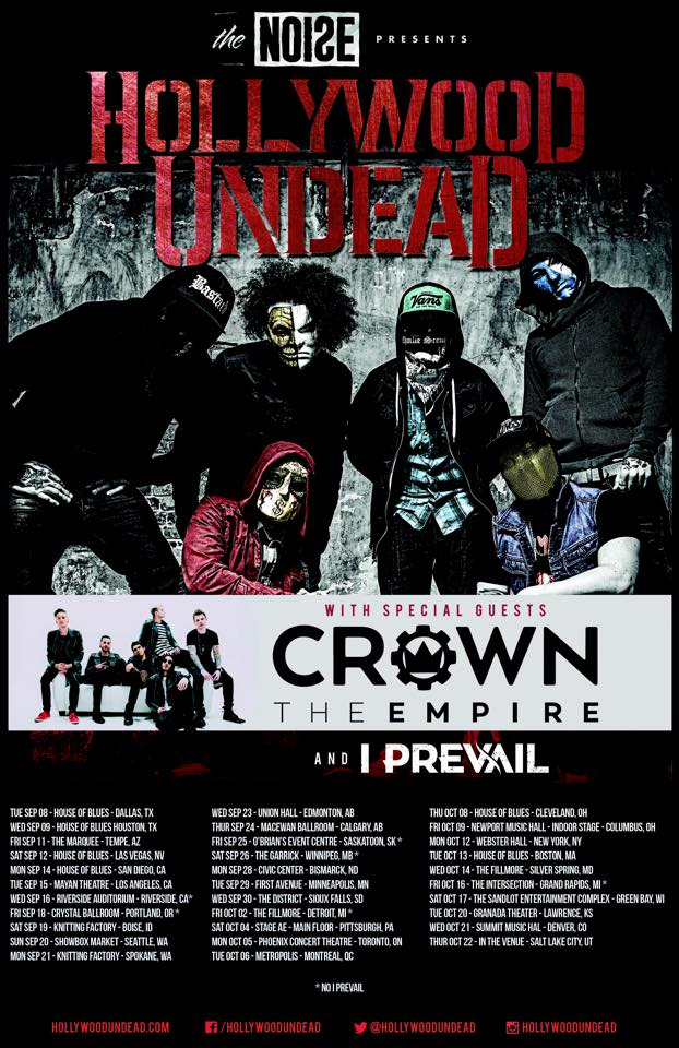 Hollywood Undead - North American Fall Tour 2015 - poster
