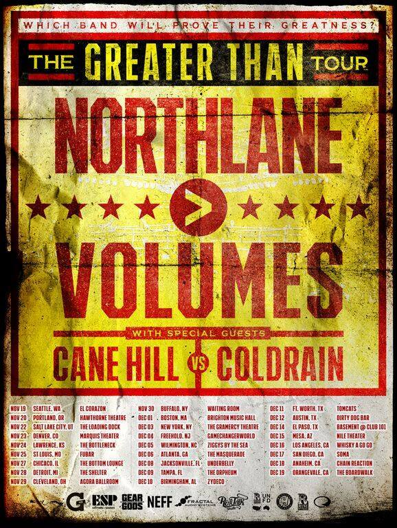 Northlane - The Greater Than Tour With Volumes - poster