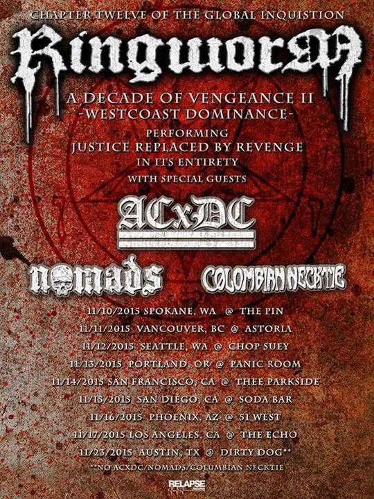 Ringworm -  A Decade of Vengeance II West Coast Dominance - poster