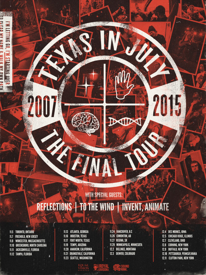 Texas in July - The Final Tour North America - 2015 Tour Poster