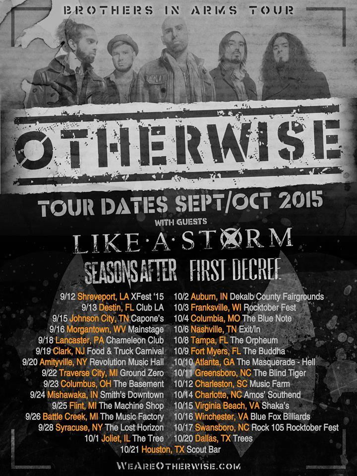 Otherwise - Brothers In Arms Tour - poster