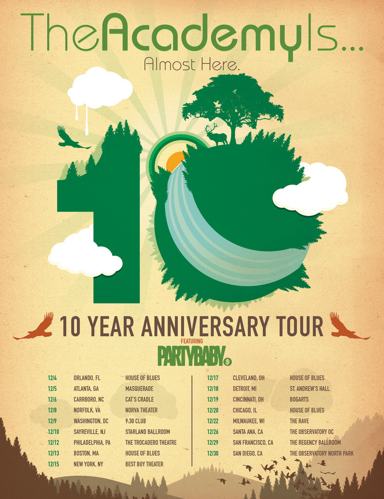 The Academy Is... - Almost Here 10 Year Anniversary Tour - poster