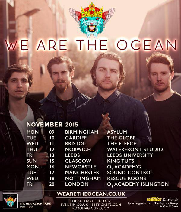 We Are The Ocean - UK November Tour 2015 - poster