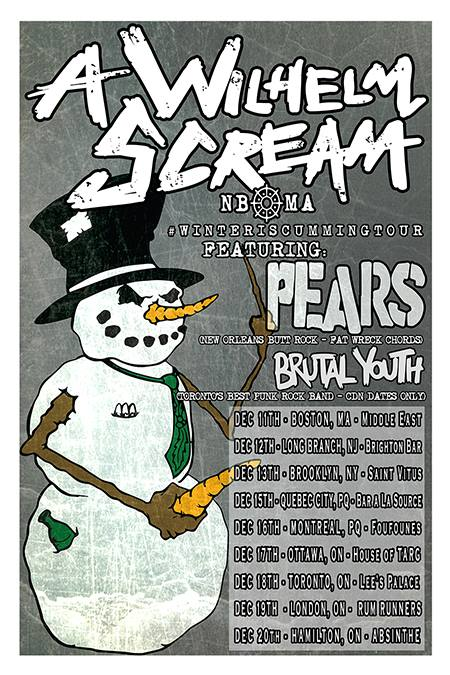 A Wilhelm Scream - Winter is Cumming Tour - Poster