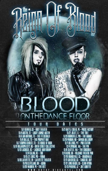 Blood On The Dance Floor - Reign of Blood Tour - 2015 Tour Poster