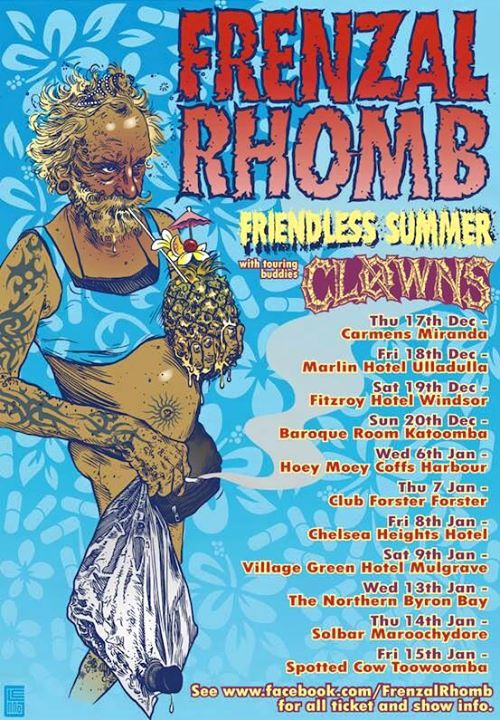 Frenzal Rhomb - Friendless Summer Tour - poster