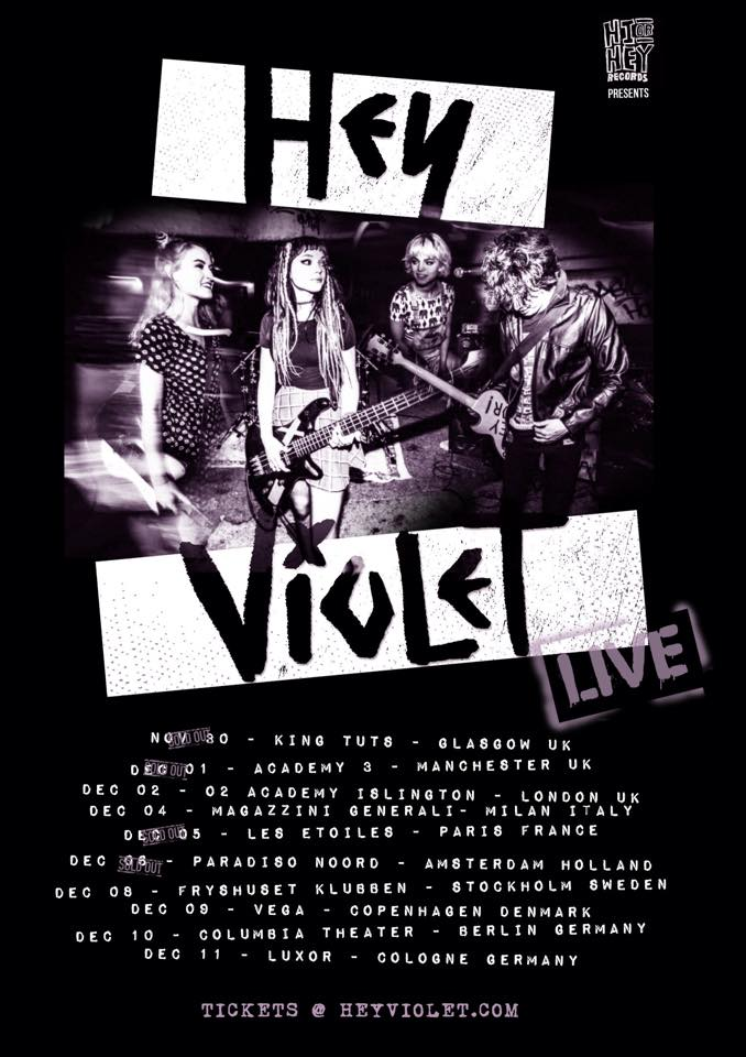 Hey Violet - European Tour