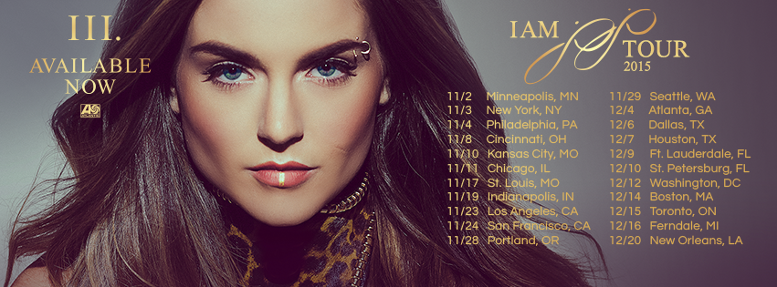 Jojo - I Am Jojo North American Tour - 2015 Tour Poster