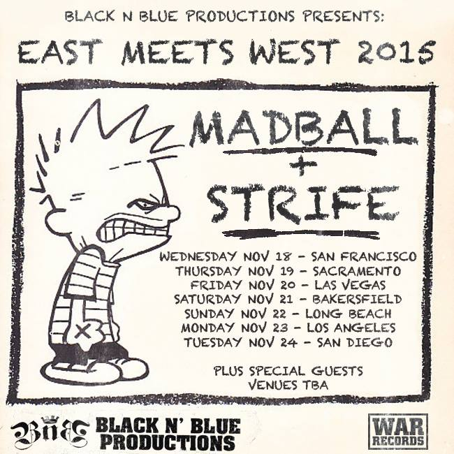Madball - East Meets West 2015 - 2015 Tour Poster