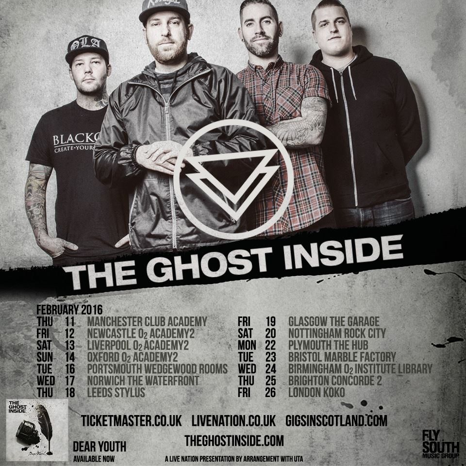 The Ghost Inside - UK Tour - poster